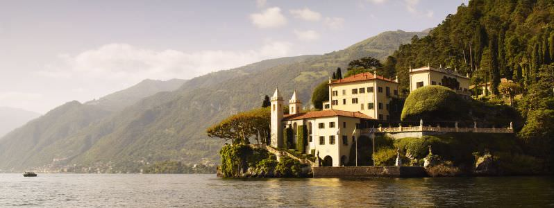 Villa del Balbianello, Lake Como Blue Walk Italy European walking tour vacation