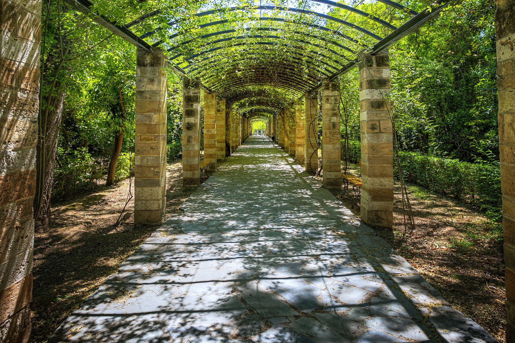 The National Garden of Athens in Greece