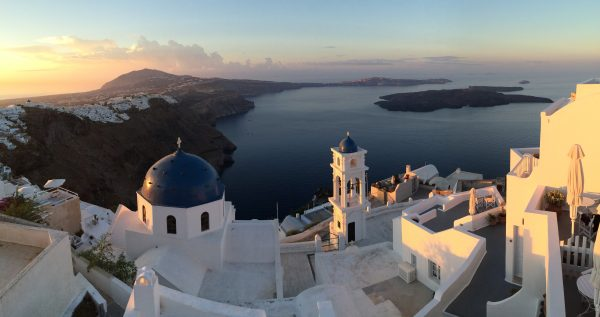 santorini pano About Art Walk Greece with Leslie Fehling walking vacation art program Greece Europe