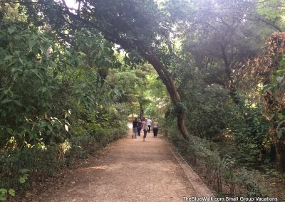 walking path in national gardens, athens