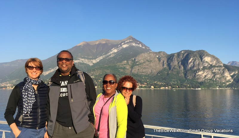 Blue Walk Italy, Bellagio, Lake Como, Italy. European walking tour vacations.