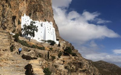 The Blue Walk visits the ancient monastery of Hozoviotissa