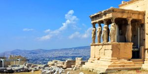 Acropolis, porch caryatids, athens, greece, walking tour,