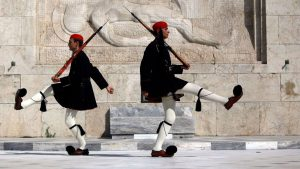 Blue Walk Greece Changing of the Guards Small group walking vaction