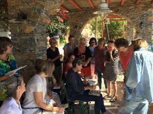 Watercolor and Sketchbook travel course with Jane LaFazio in Greece.