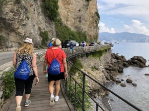 walking to Portofino