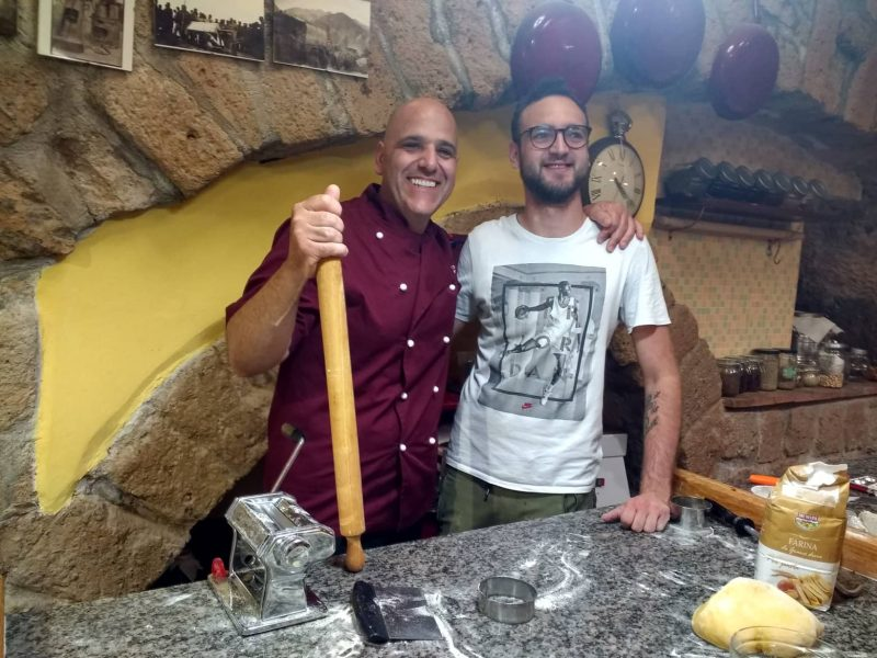 Guest with teacher cooking class in Orvieto Italy