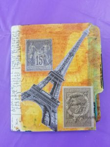 Art travel journal soulcollage class with Kat Kirby Paris France