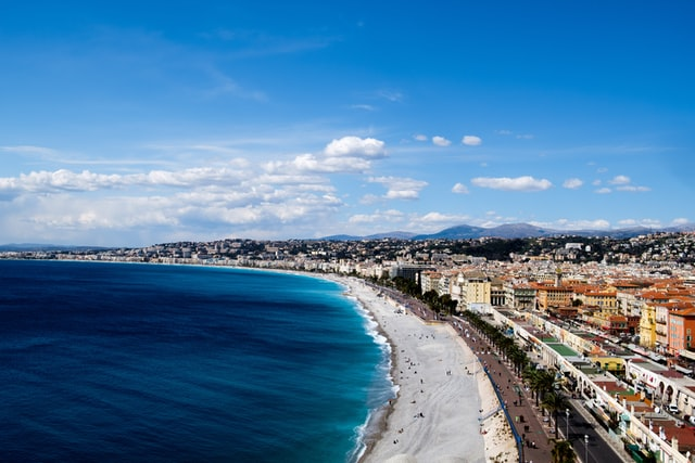 Nice France Promenade des Anglais European walking tour travel journal art vacation in France with Lorraine Bell