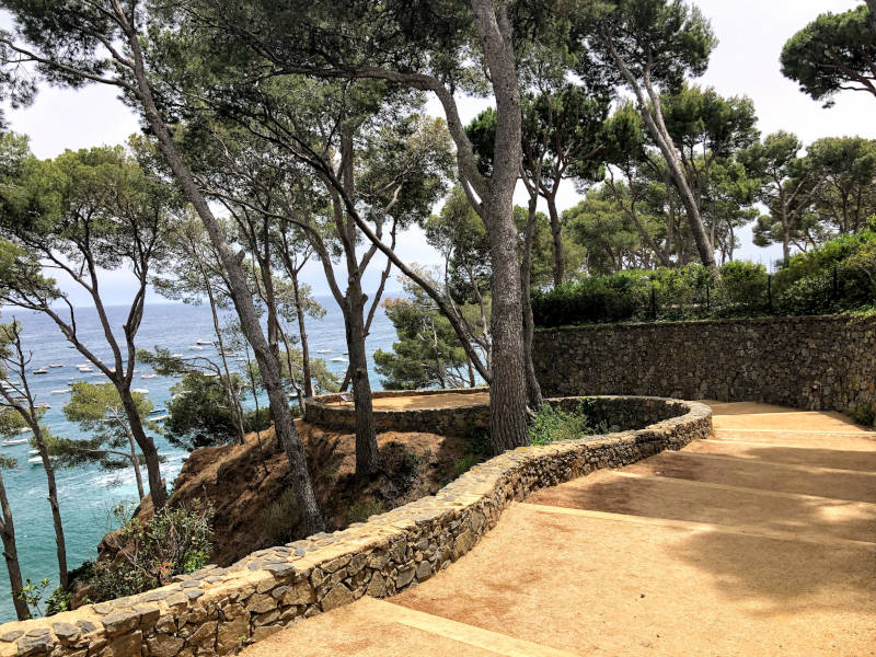 Stepped walking path Costa Brava Spain walking vacation Walk Level 2