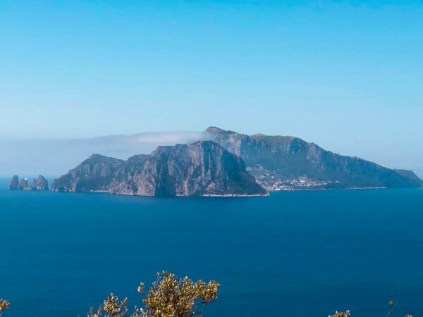 Capri Island as seen from Punta Campanella Italy walking vacation