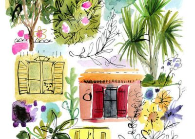 Jennifer Orkin Lewis sketchbook art vacation in France