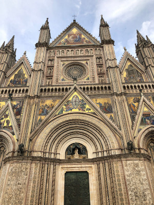 Orvieto Duomo Italy walking vacation