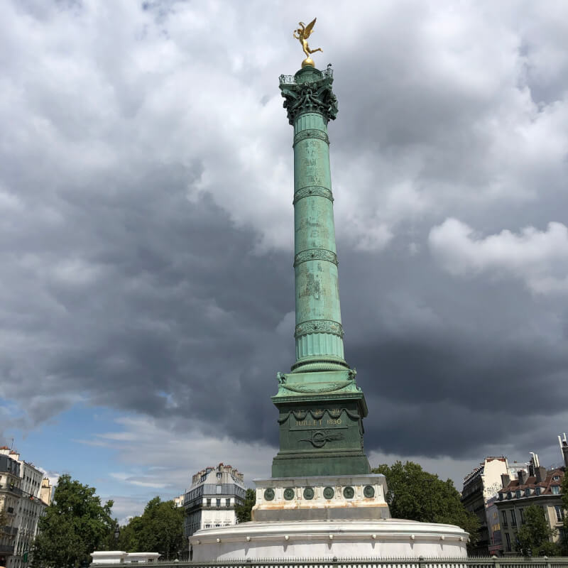 Promenade plantee Paris Coulee verte walking bastille spirit of liberty statue