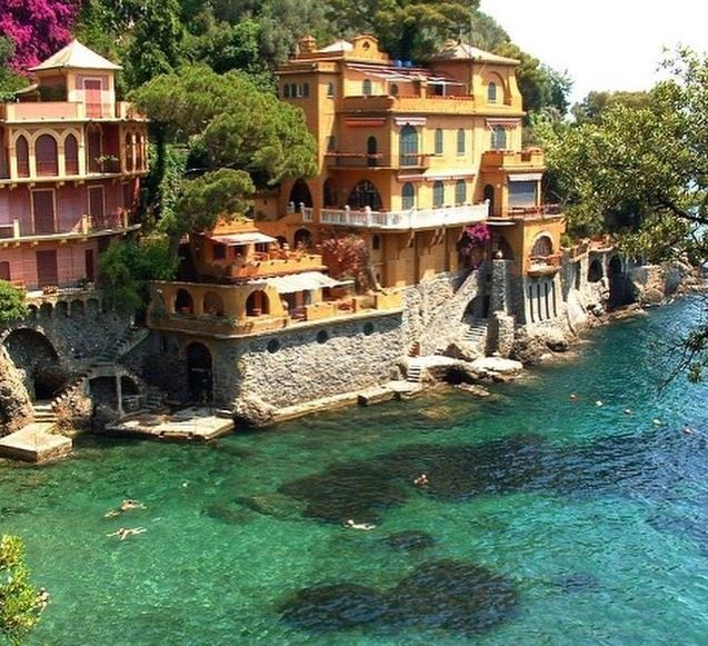 Walk to Portofino Italy colorful buildings art travel journal workshop walking tour vacation